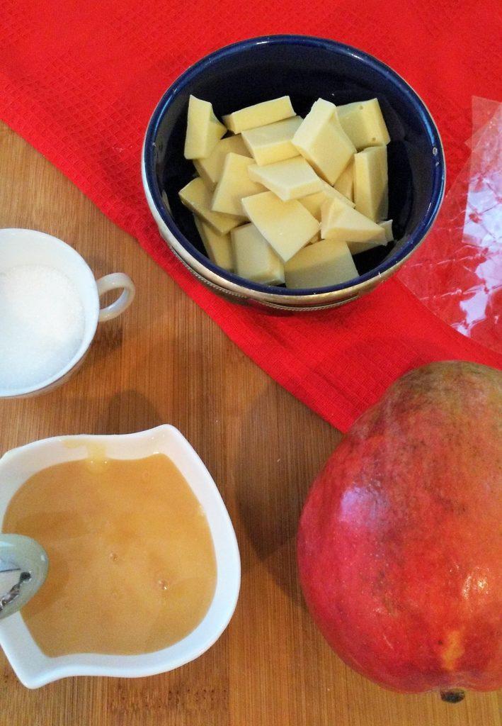 crema de chocolate y mango
