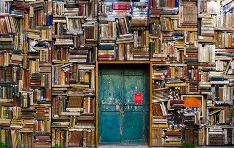 puerta y libros