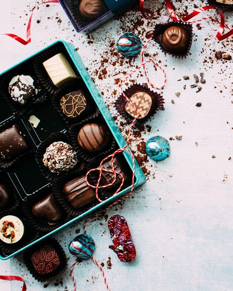 caja de bombones para celebrar el cumplir años