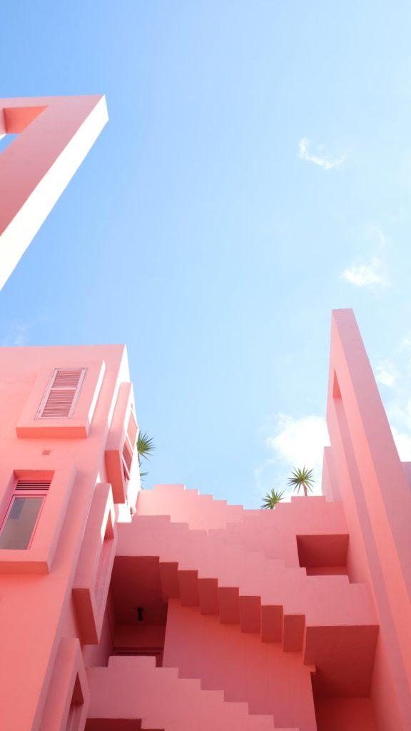 edificio rosa