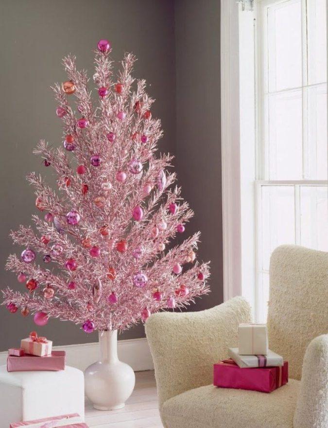 árbol de Navidad rosa