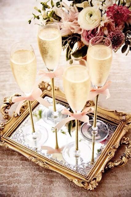 Copas con champán