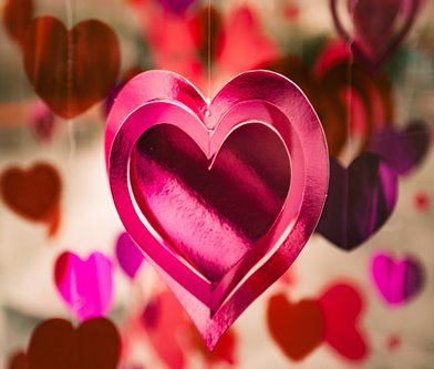 Corazón fucsia