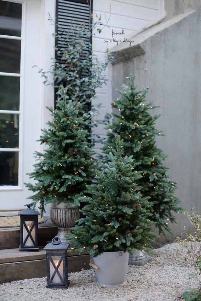 decoración exterior navideña