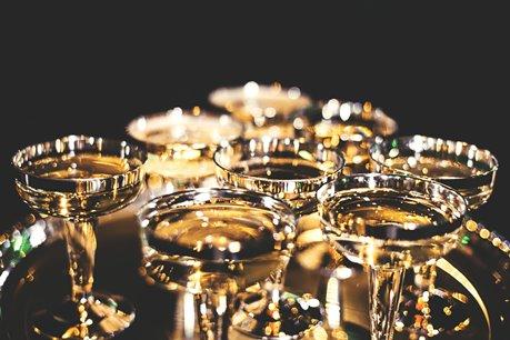 copas bajas de champán