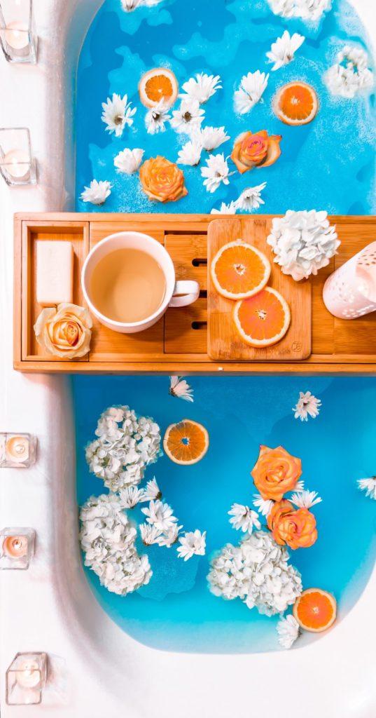 Celebrar San Valentín con un baño perfumado de naranja