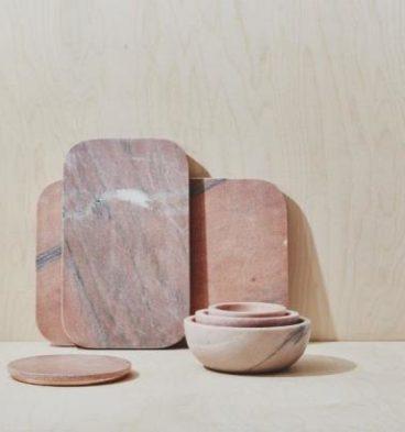 tablas de cortar en mármol rosa